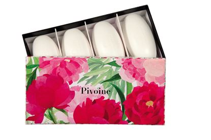 Picture of Set of 4 pebble soaps Pivoine