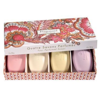 Picture of Set of 4 pebble soaps PARIS